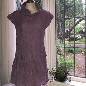 Dresses & Skirts - Dusty Purple Cotton Tunic Dress /Top size XS